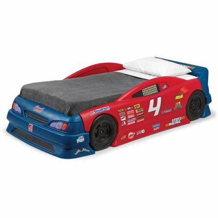 Photo Race car bed with brand new mattress