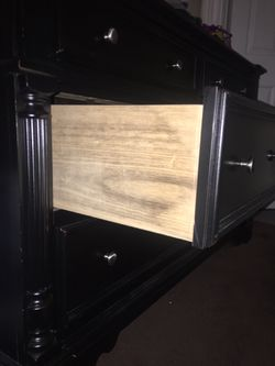 Black dresser and armoire Thumbnail