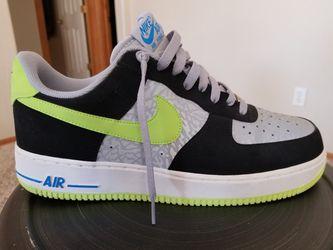 Nike Air Force 1 Reflective Silver/Black/Volt Men Size12 Thumbnail