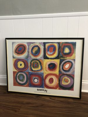 Kandinsky. Color Study. Squares with Concentric Circles.Framed for Sale in Columbus, OH