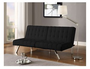 Convertible Futon Sofa Couch Black Linen For In Raleigh Nc