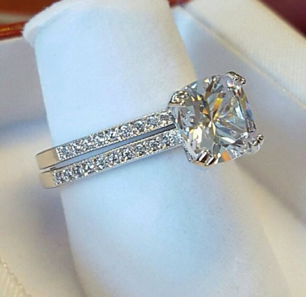 Beautiful Wedding Ring Set 21k White Gold Plated For In Chicago Il Offerup