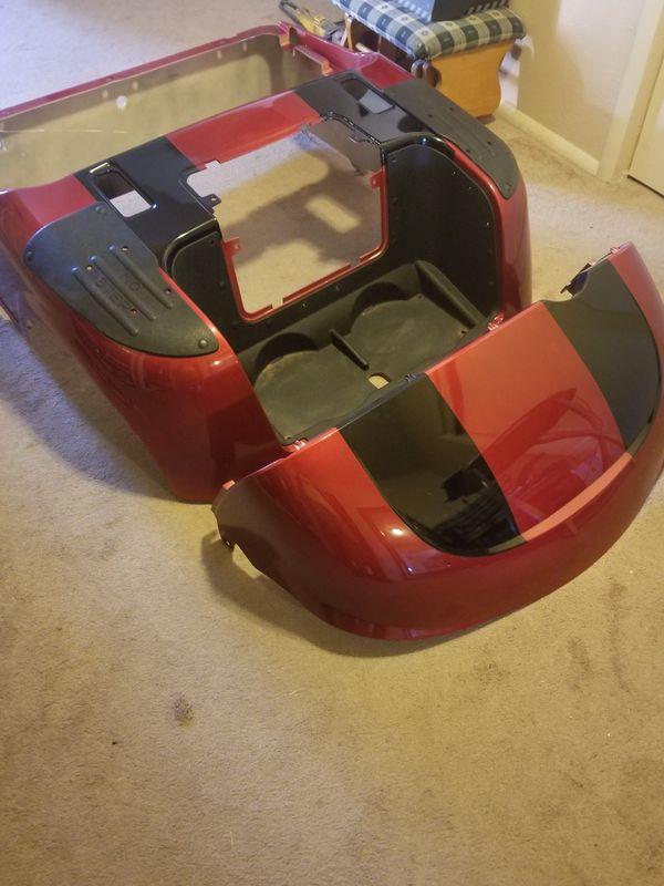 RXV EZ go Candy Apple red black stripe golf cart body for Sale in Casa  Grande, AZ - OfferUp