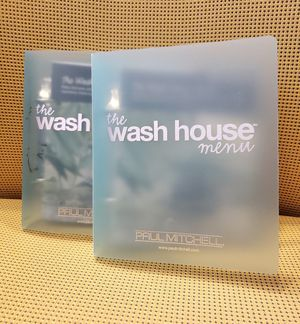 Paul Mitchell Wash House Menu Binder - Set of 2 for Sale in Montgomery Village, MD