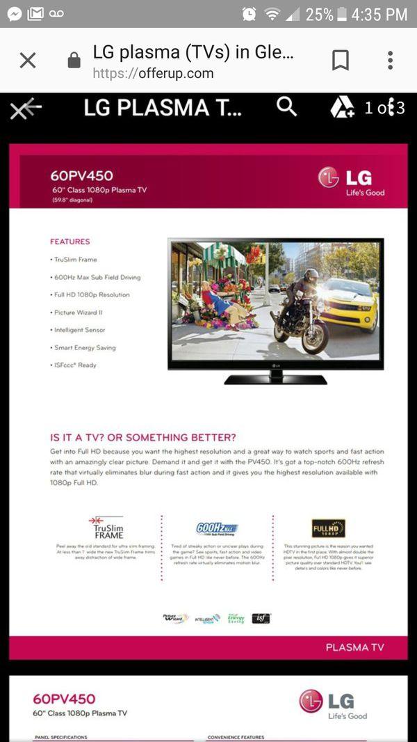 2013 LG 60 inch tv for Sale in Glendale, AZ - OfferUp