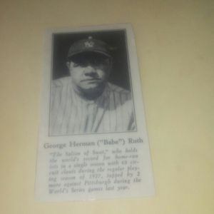 Photo 1928 Babe Ruth Baseball Card - #1 Fro-joy Promo