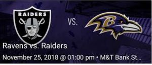 Baltimore Ravens vs Oakland Raiders Tickets for Sale in Arlington, VA