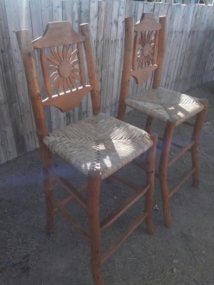 Wooden bar stool for Sale in Tolleson, AZ