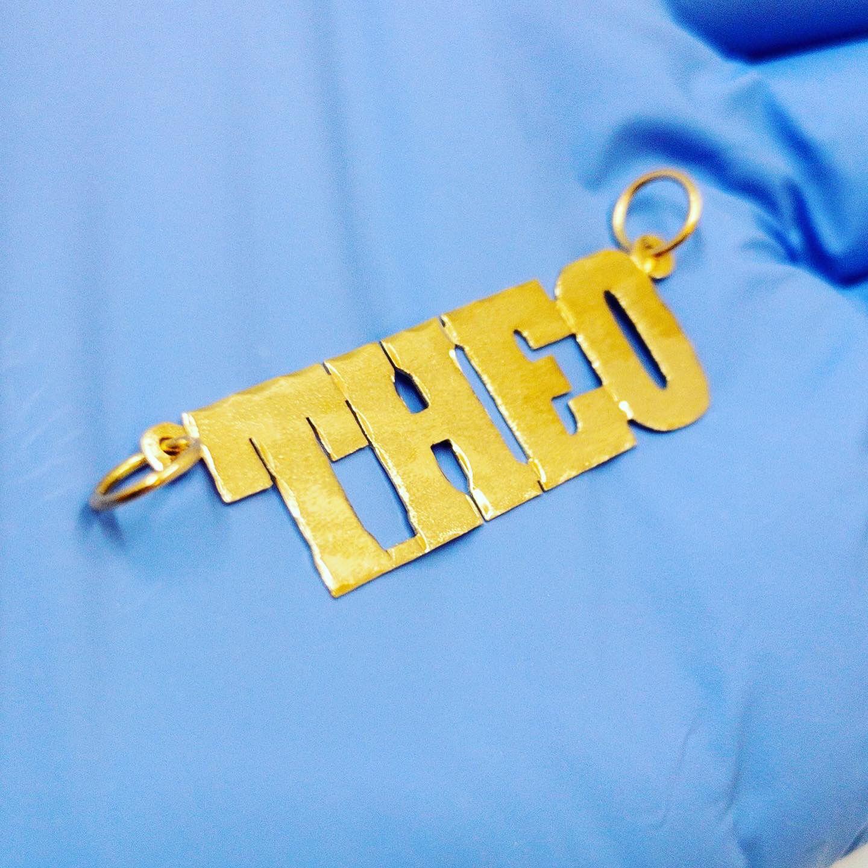 10k Gold Nameplate Theo