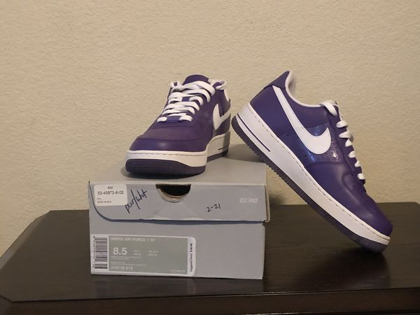 timeless design 6010a 60a4b Nike Women Air Force 1  07 Purple  White (Clothing   Shoes) in Killeen, TX  - OfferUp
