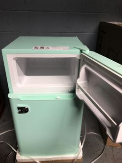 Compact Mini Refrigerator with Separate Freezer in the box with small dent on one side Thumbnail