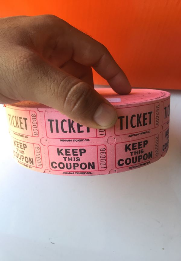 keep this coupon raffle ticket stub roll of 2000 each for sale in