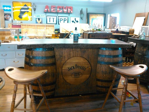 Whiskey Barrel Bar Sets And Live Edge Slabs Create Your