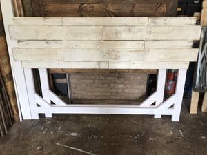White washed king headboard for Sale in Rockville, MD