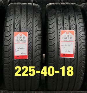 Photo 2 used tires 225/40/18 Continental