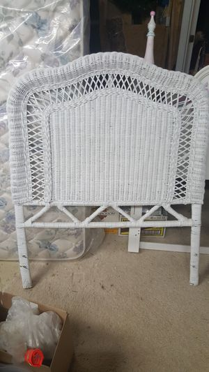 2 - white wicker twin headboards for Sale in Highland, MD