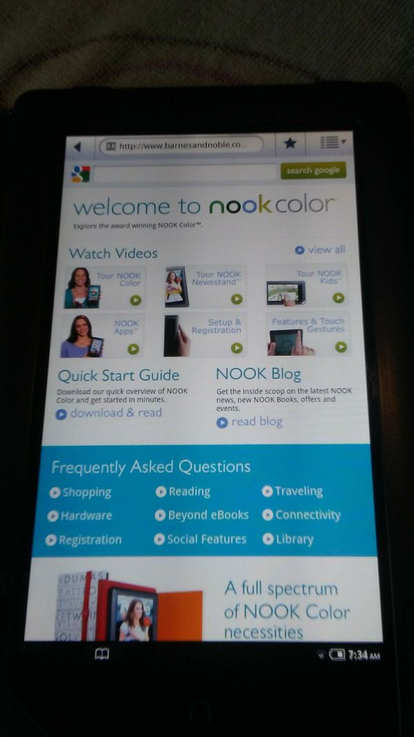 Barnes & Noble Nook tablet 8 in for Sale in Ladson, SC - OfferUp