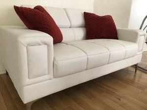 Photo White leather Sofa Set
