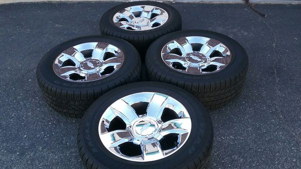 20 chevy silverado chrome rims and tires for sale in fontana ca 20 chevy silverado chrome rims and tires for sale in fontana ca offerup publicscrutiny Gallery