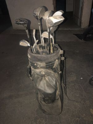 Used golf bag and clubs. for Sale in Cudahy, CA