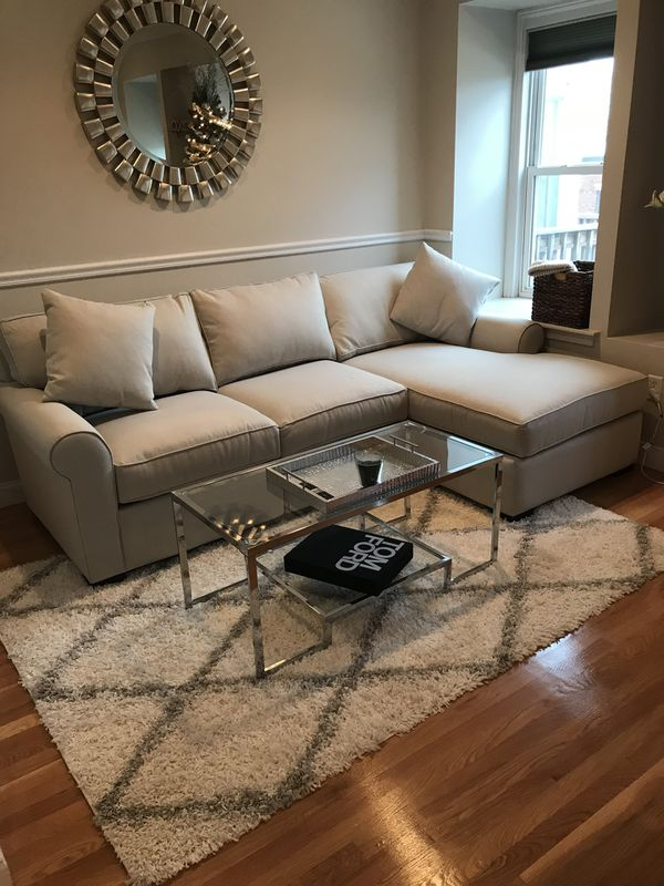 Like new beige sectional sofa couch for Sale in Boston, MA - OfferUp