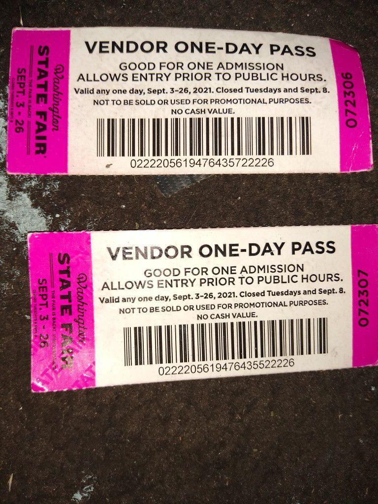 State Fair All Day Pass Tickets