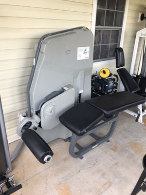 Used nautilus lying prone leg curl butt glute fitness gym train exercise for Sale in Appomattox, VA
