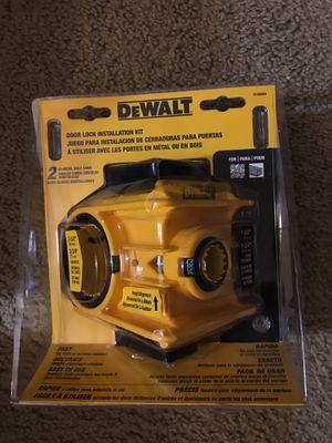 Dewalt door lock installation kit for Sale in Houston, TX