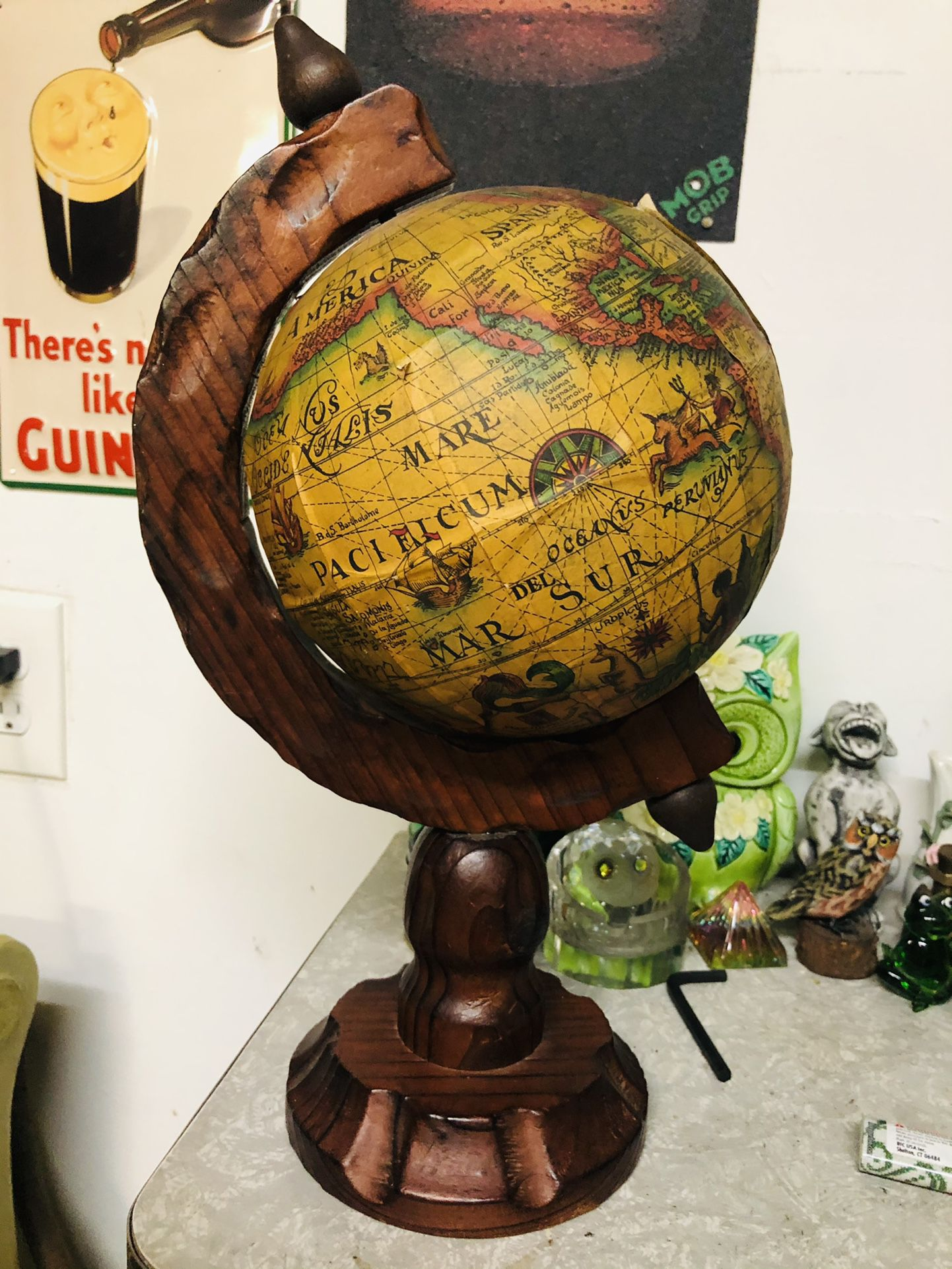 "Vintage Spanish Globe 12"""