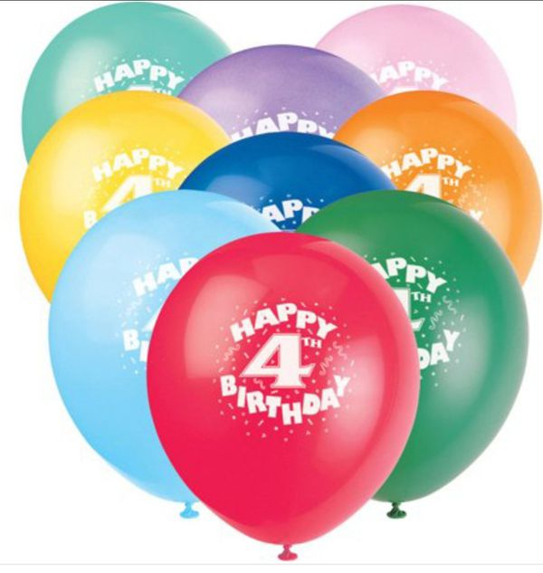 Happy 4th Birthday Balloons 12