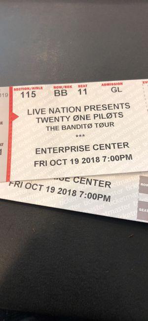 2 Twenty One Pilots Concert Tickets for Sale in Wildwood, MO
