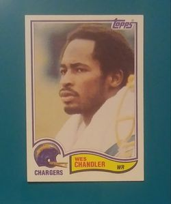 1982 Topps Wes Chandler San Diego Chargers #228 Wide Receiver Football Card Vintage Collectible Sports NFL Thumbnail