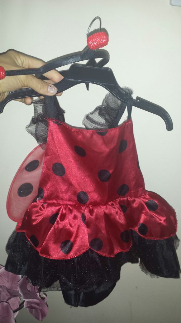 Cute lady bug costume for baby 6m -2 years