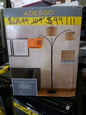 Adesso 3 arm floor lamp with adjustable arms for Sale in Phoenix, AZ