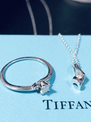 Diamond Ring & Diamond Pendant Necklace Gift Set for Sale in Oviedo, FL