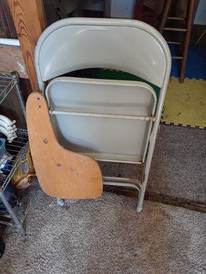 Samsonite metal folding school chair with desktop for sale  Wichita, KS