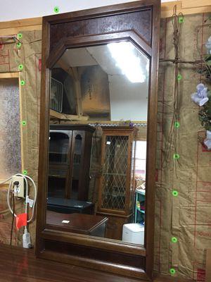 "Nice Heavy Oak Mirror,will hang,47""x22 1/2"",very good condition for Sale in Waynesboro, VA"