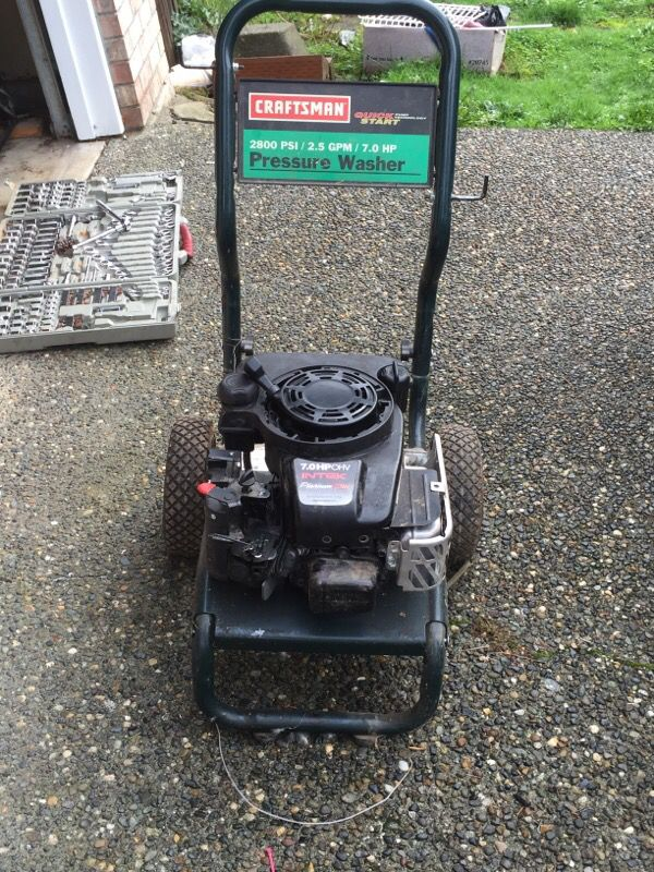 Craftsman 2800 Psi 2 5 Gpm 7 0 Hp Pressure Washer Broken For Sale In Kirkland Wa Offerup