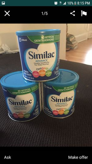 Brand new Similac advance baby powder milk blue can never open brand new expiration date of 2022 for Sale in Washington, DC