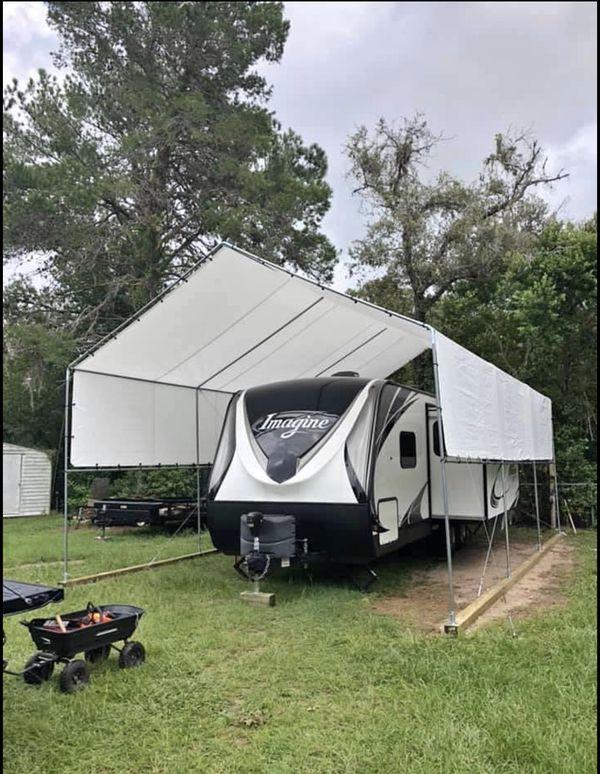 New galvanize steel canopy RV carports 12'x30' (15') tall ...