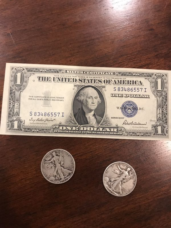 Silver Coins And Silver Certificate 1935f For Sale In Austin Tx