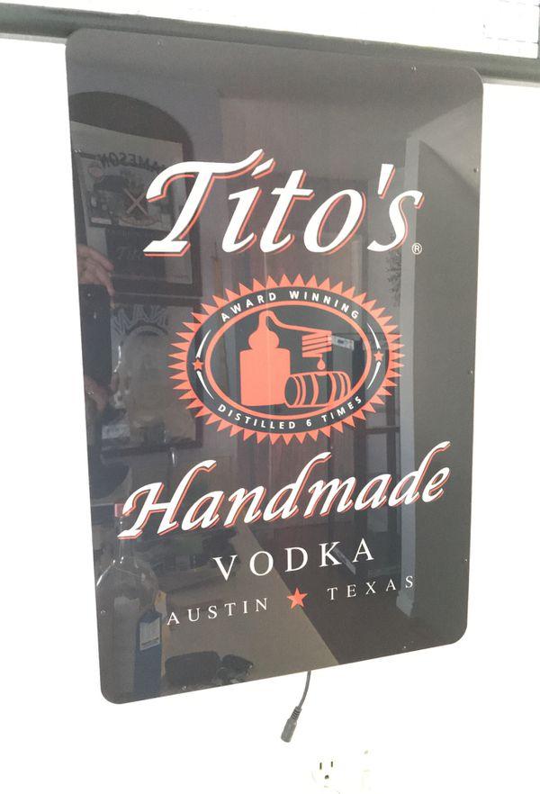 Tito's vodka Neon Light sign *Brand New* for Sale in
