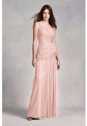 White by Vera Wang One Shoulder Illusion Bridesmaid Dress in Blush Size 2 for Sale in Denver, CO