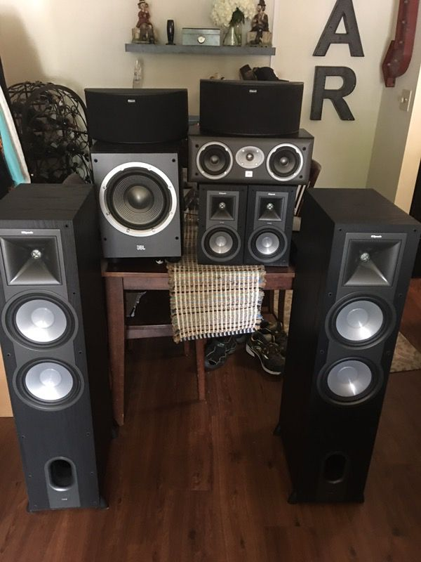 Klipsch / JBL home theater system with ONkYO receiver for Sale in  Centreville, VA - OfferUp