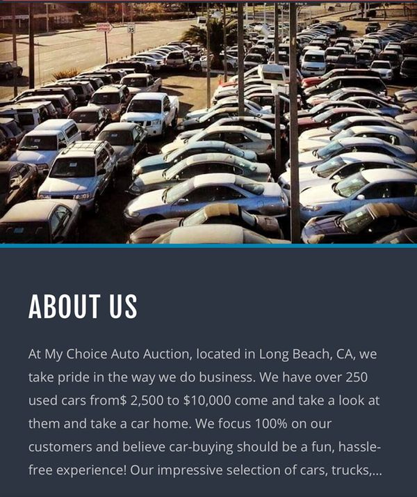 My Choice Auto Auction For Sale In Long Beach Ca Offerup