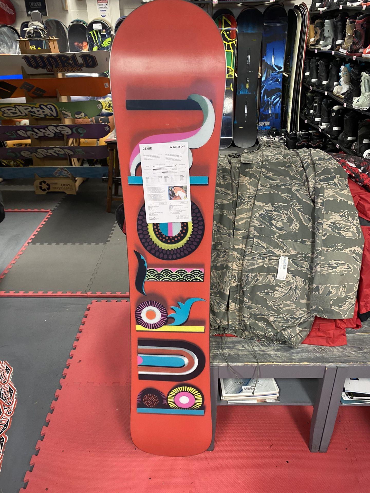 new burton 151 snowboard with 3 year warranty
