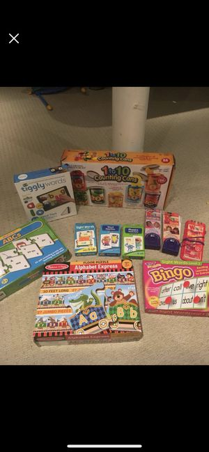 Learning Games K- First Grade - Melissa & Doug, Counting Cans, Tiggly Words, Puzzles, Bingo for Sale in Granby, CT
