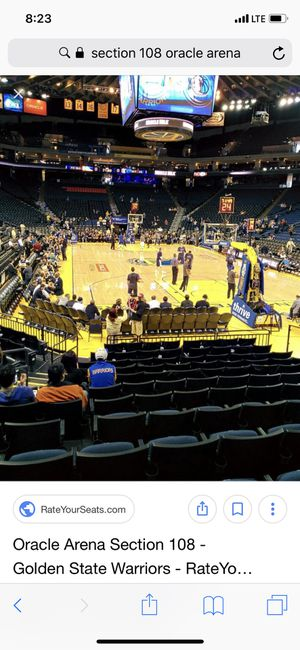 Warriors 2 tickets Lower Level Face Value Game 1 vs. Cavs for Sale in San Francisco, CA
