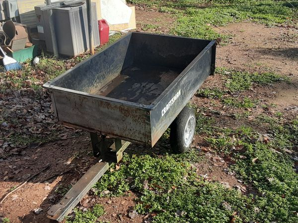 Craftsman Trailer That You Pull Behind Lawn Mower For Sale