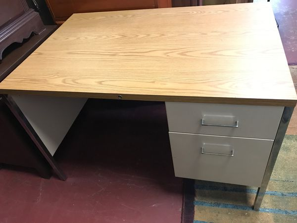 Real nice office desk one file drawer and one regular ...